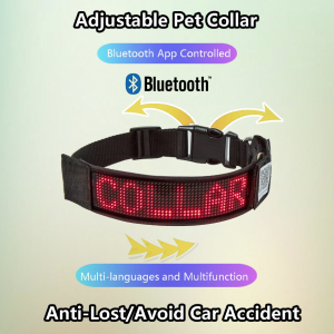 LED Dog Collar Programmable
