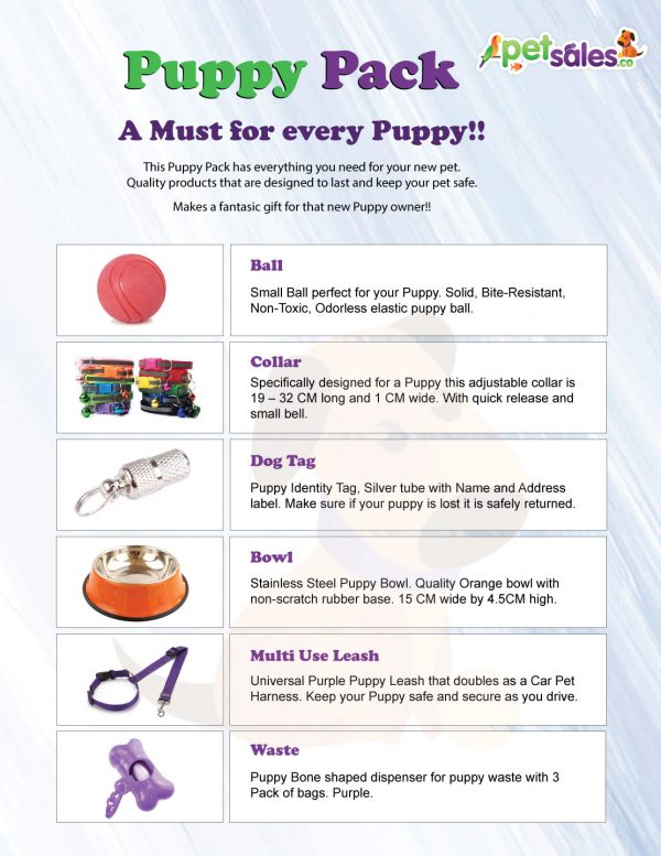 Puppy Pack products